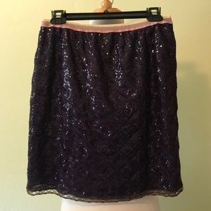 Custo Barcelona Purple Sequined Skirt